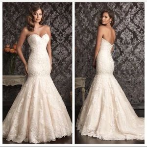 Allure bridal 9018, size 12 in ivory snow.